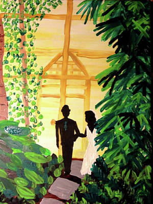 Rawlings Painting - Newlyweds by Felicia Clark