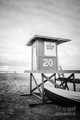 Shack Photograph - Newport Beach Lifeguard Tower 20 Photo by Paul Velgos