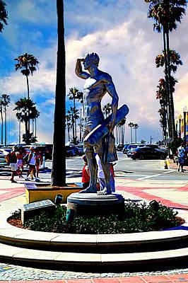 Newport Beach - Pier Entryway Print by Glenn McCarthy Art and Photography