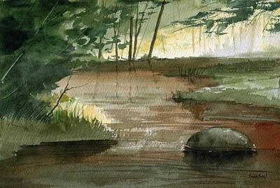 Newton Creek 1 Print by Sean Seal