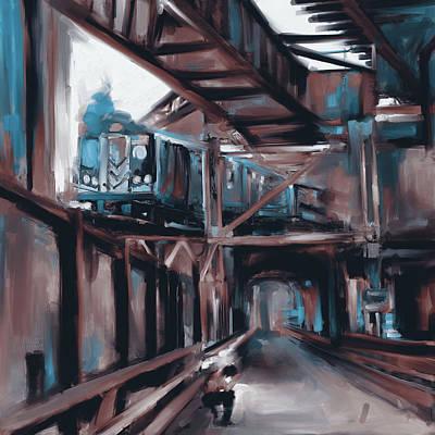 Urban Subway Painting - Newyork I 465 II by Mawra Tahreem