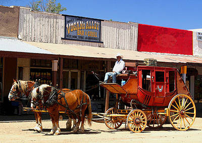Cowboy Photograph - Next Stop Bisbee by Joe Kozlowski