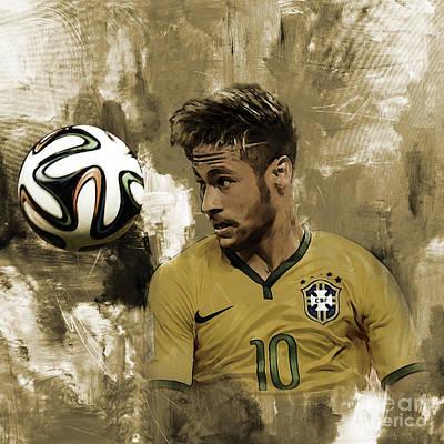 Cristiano Ronaldo Painting - Neymar 05a by Gull G