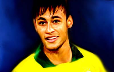 Pele Mixed Media - Neymar Brasileiro  by Enki Art