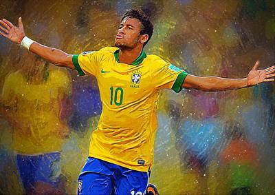 Champion Digital Art - Neymar by Semih Yurdabak