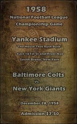 Yankee Stadium Digital Art - Nfl Championship Game 1958 by David Dehner