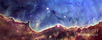 Hubble Space Telescope Views Photograph - Ngc 3324  Carina Nebula by Nicholas Burningham