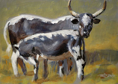 Horizontal Painting - Nguni 3 by Christopher Reid