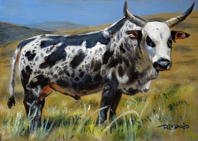 Landscape Painting - Nguni Bull by Christopher Reid