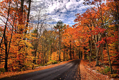New Hampshire Autumn Photograph - Nh Autumn Road 4 by Edward Myers