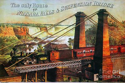 Niagara Falls Bridge, 1876 Print by Granger