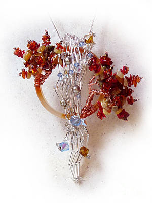Wire Wrap Jewelry Sculpture - Niagra Fall by Rhonda Chase