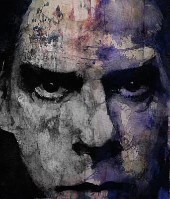 Lips Digital Art - Nick Cave Retro by Paul Lovering