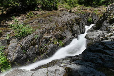 Snow Melt Photograph - Nickle Creek Sliding Down The Mountain by Jeff Swan