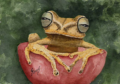 Painting - Nic's Frog by Sam Sidders