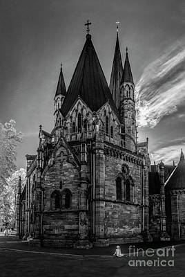 Medieval Temple Photograph - Nidaros Cathedral by Erik Brede