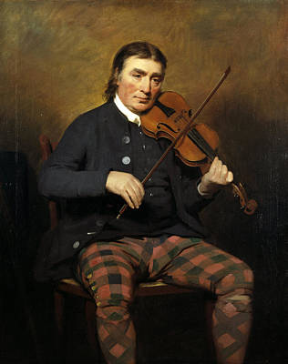 Henry Raeburn Painting - Niel Gow . Violinist And Composer by Henry Raeburn