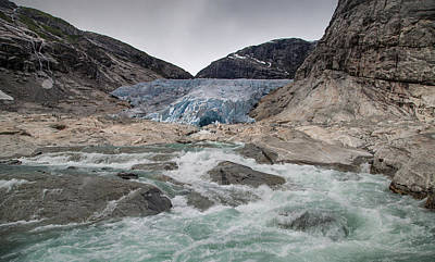 Nigardsbreen Glacier Print by Nigel Jones