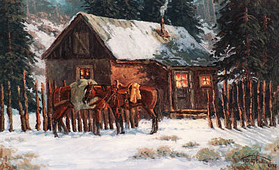 Night Cabin Original by Randy Follis