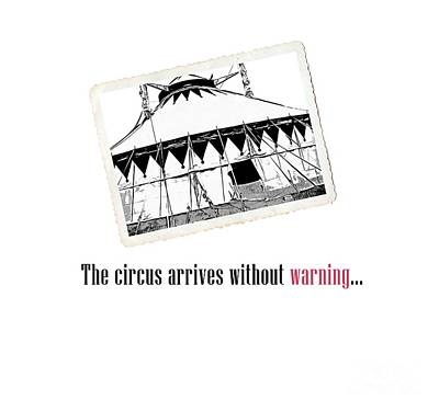 Night Circus Tee Print by Edward Fielding