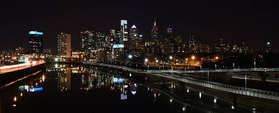 Philadelphia Skyline Photograph - Night In Philly by Jennifer Ancker