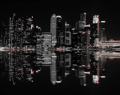 Singapore Photograph - Night In The City by Hardibudi