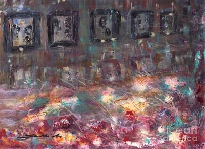 Painting - Night In The City  by Mary Sedici
