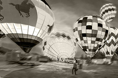 Balloon Photograph - Night Launch by LeeAnn McLaneGoetz McLaneGoetzStudioLLCcom