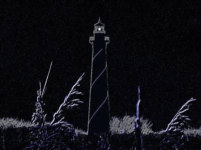 N.c Photograph - Night Light - Digital Art by Al Powell Photography USA