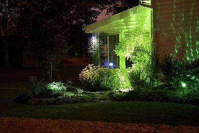 Gardens Painting - Night Light Garden 2  by Michael Mrozik