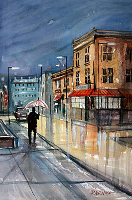 Umbrella Painting - Night Lights by Ryan Radke