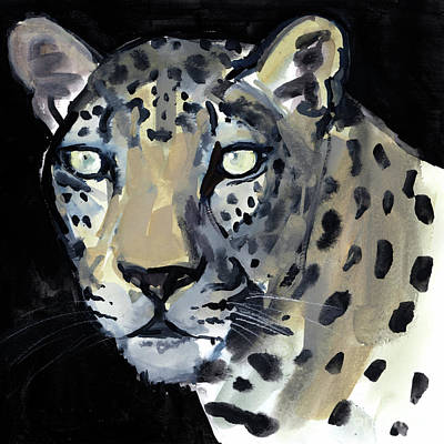 Leopard Drawing - Night by Mark Adlington