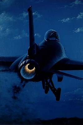Lockheed Aircraft Painting - Night Moves by Peter Ring