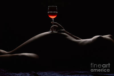 Wine Art Photograph - Night by Naman Imagery