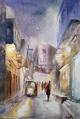 Night Of Lahore Print by MKazmi Syed