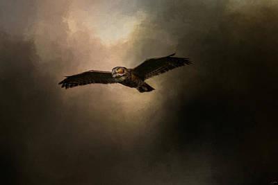 Owl In Flight Photograph - Night Of The Owl 2 by Jai Johnson