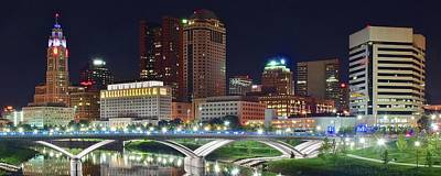 Photograph - Night Pano In Columbus by Frozen in Time Fine Art Photography