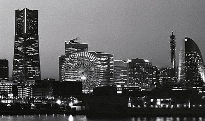 Night Scene Of Yokohama Print by Snap Shooter jp