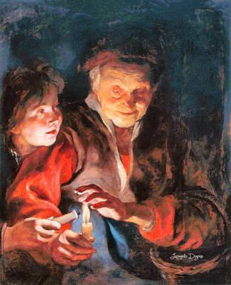 Peter Painting - Night Scene Revisited by Leonardo Digenio