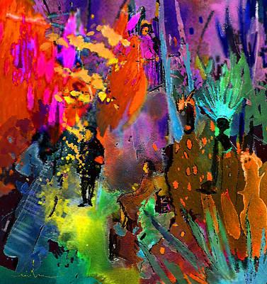 Dreamscape Mixed Media - Night Serenade by Miki De Goodaboom