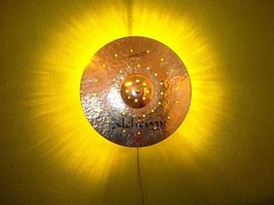 Cymbal Mixed Media - Night Sun by Lev Rybalkin
