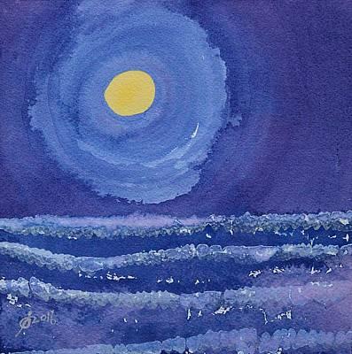 Night Surf Original Painting Original by Sol Luckman