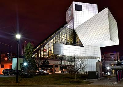 Night Time At The Rock Hall Print by Frozen in Time Fine Art Photography