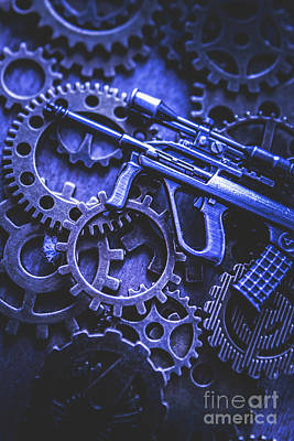 Mechanism Photograph - Night Watch Gears by Jorgo Photography - Wall Art Gallery