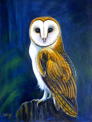 Nightwatch Painting - Night Watch by Janet Silkoff