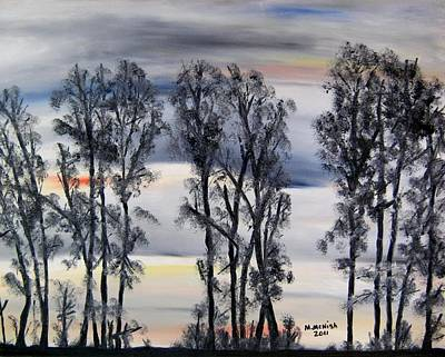 Nightfall Approaching Print by Marilyn  McNish