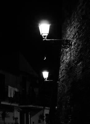 Moonrise Photograph - Nightly Sky by Andrea Mazzocchetti