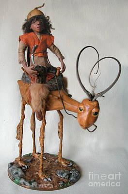 Sculpture - Nightrider by Linda Apple