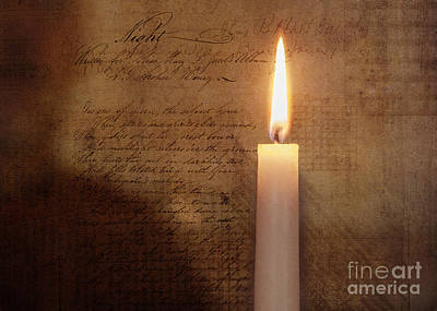 Contemplative Mixed Media - Night's Candle by Terry Rowe