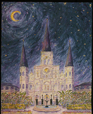 Painting - Nighttime Cathedral by Catherine Wilson